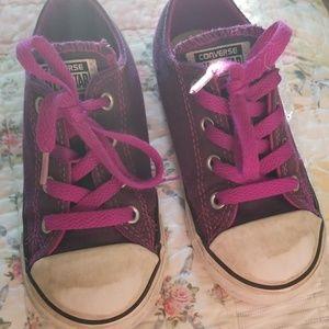 Kids Purple Converse Sneakers